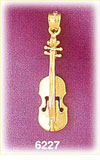 14k gold musical violin charm