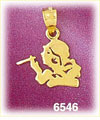 14k gold smoker smoking a cigarette charm