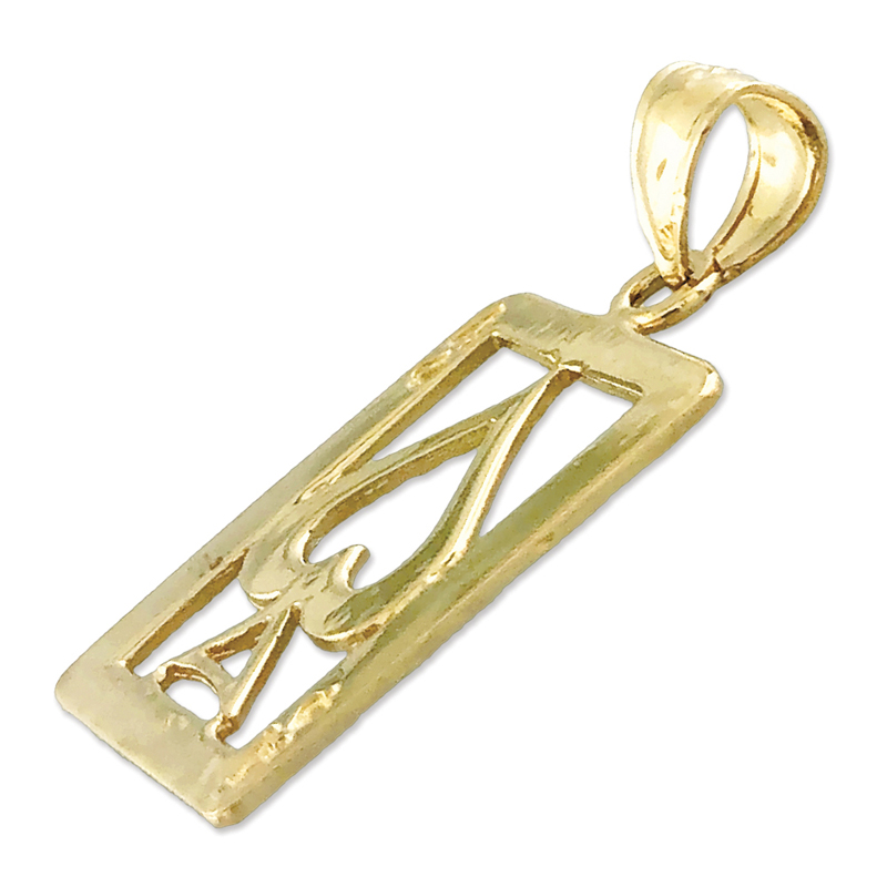 14K Gold Ace of Spades Charm