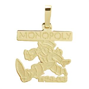 14k gold custom made monopoly pendant
