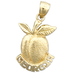 14k gold georgia peach charm