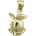 14k gold atlanta georgia peach charm
