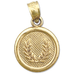 14k gold seven wishes prosperity charm