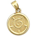 14k gold seven wishes happiness charm