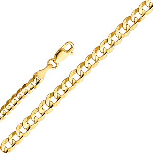 14k gold 2.7mm cuban concave chain