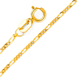 14k gold 1.2mm figaro chain
