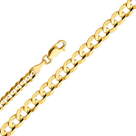 14k gold 3.2mm cuban concave chain