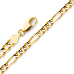 14k gold 3.1mm figaro chain