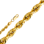 14k gold 5mm solid rope chain