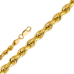 14k gold 3mm solid rope chain