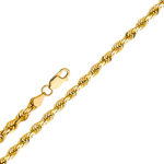 14k gold 1.5mm solid rope chain
