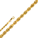 14k gold 3mm hollow rope chain