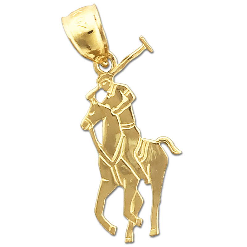 14k Gold Polo Charm