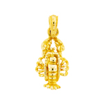 14k gold sea life lobster charm