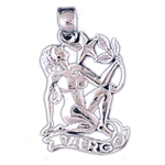 14k white gold zodiac virgo charm