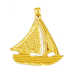 14k gold sailor sailboat charm