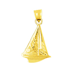 14kt gold sailboat charm