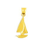 14 kt gold sailboat charm