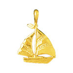 14 karat gold sailboat charm