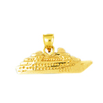14k gold 3d sea cruise ship charm