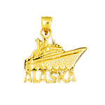 14k gold alaska fishing boat charm