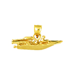 14k gold speed boat charm