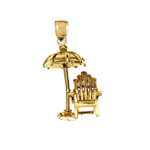 14k gold 3d adirondack beach chair charm