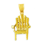 14k gold 3d beach chair charm