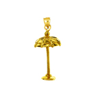 14k gold 3d beach umbrella charm