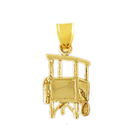 14k gold beach life guard tower charm