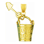 14k gold 3d daytona pail and shovel charm