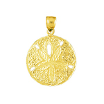 14k gold 15mm sand dollar charm