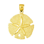14k gold 18mm sand dollar charm