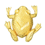 14k gold toad slide pendant
