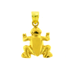 14k yellow gold polished frog charm for charm bracelet
