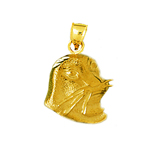 14k gold sea lion head charm