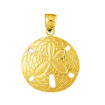 14k gold 28mm sand dollar pendant