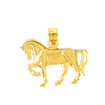 14kt gold 20mm horse charm