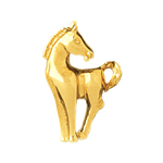 14k gold pony pendant