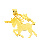 14kt gold charging unicorn charm