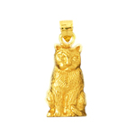 14 karat gold 16mm cat charm