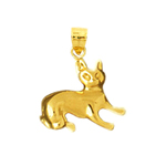 14 karat yellow gold feline cat charm