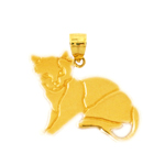 14k gold 18mm cat charm