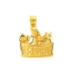 14 karat gold basket of kittens charm