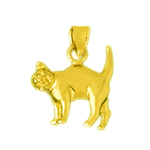 14k gold kitty cat charm