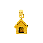 14k gold dog house charm