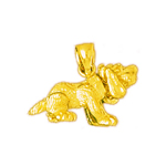 14k gold dachshund dog with collar charm