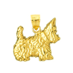 14k gold aberdeen scottish terrier pendant
