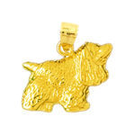 14k gold cocker spaniel charm
