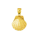 14k gold scallop shell charm